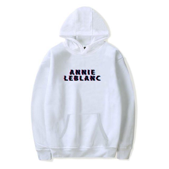 ANNIE LEBLANC GLITCH LOGO Pullover hoodies Men Women Internet Celebrity Print Hoodie Sweatshirts Unisex Tracksuit