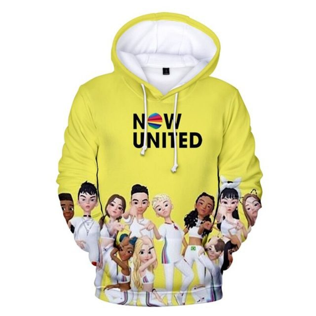 NOW UNITED THEMED 3D HOODIE
