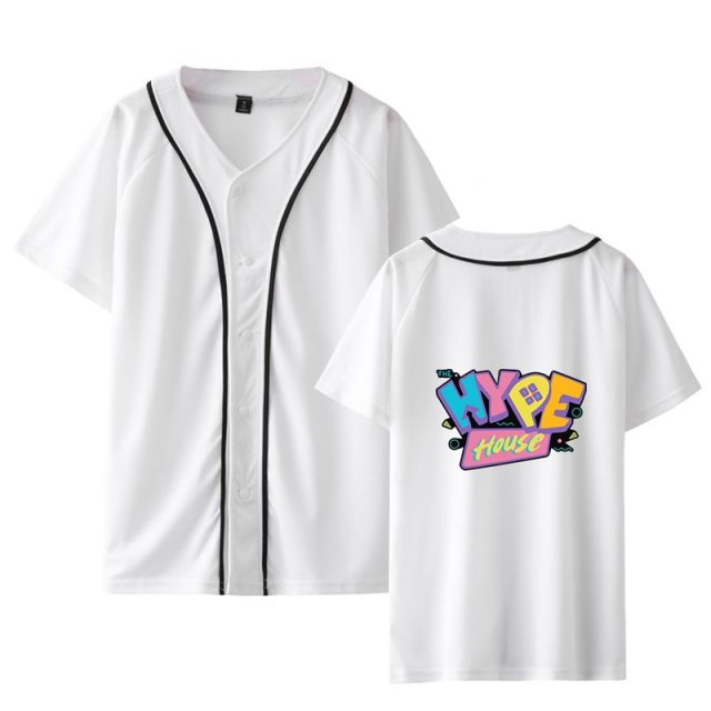 2020 The Hype House Short Sleeve Baseball T-shirt Women / Men Summer Tops Women Kpop Clothes Plus Size Print Casual High 4XL