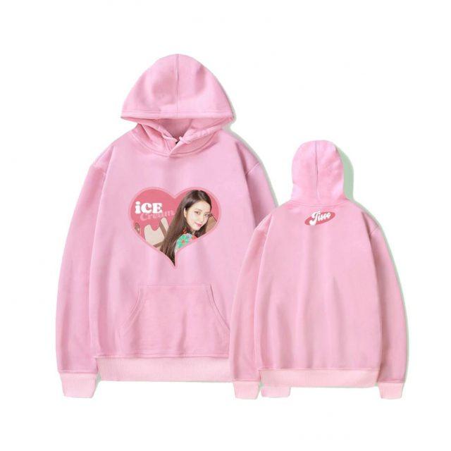 BLACK ALBUM K KPO KPOP ICECREAM Hoodie Sweatshirts Pullovers Women Long Sleeve Streetwear Hoody Top Female Harajuku K-pop Clothe